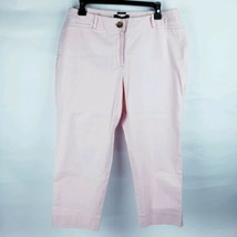 Talbots Women's 12p petite Capris Pants Crop Pink Stretch Cotton #b - $11.88