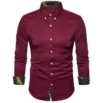 Autumn long-sleeved shirt  turtleneck shirt men's shirt - $86.07+