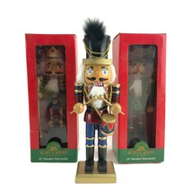 "Lot of 3 Kurt Adler Wooden Nutcrackers Christmas Holiday Decoration Decor 10"" - $37.37"