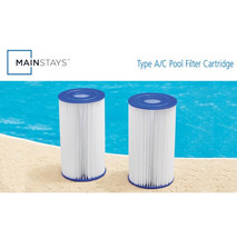 "Mainstays Size 4.2"" x 8"" Type III A/C Pool Filter Cartridge - 2 ct image 4"