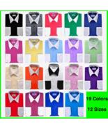 BERLIONI ITALY MEN'S PREMIUM CLASSIC WHITE COLLAR & CUFFS TWO TONE DRESS... - $18.99