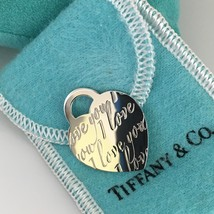 Tiffany & Co Sterling Silver I LOVE YOU Large Heart Tag Pendant - $159.00