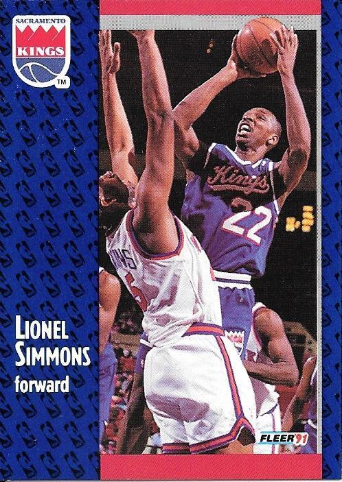 Lionel Simmons ~ 1991-92 Fleer #179 ~ Kings