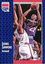 Lionel Simmons ~ 1991-92 Fleer #179 ~ Kings - $0.05