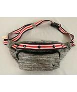 Victoria's Secret Pink Marled Gray Striped 4-th July Belt Bag Fanny Pack - $27.23