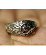 Celtic Absorb Evil Eye & convert to positive ring Pentagram 925 Sterling... - $29.69