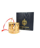 US Naval Academy 24kt Gold Finish Drum 3D Ornament w/ Box Made in USA - $19.79