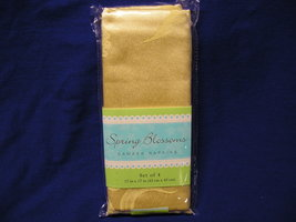 Easter-Spring Blossoms Damask Napkins - Yellow - Set Of Four- - 17 in x ... - $15.99