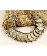 """VTG 1950's Mexico Estados Unidos Mexicanos 20 Coins & Charm link 7.5"""" L ... - $84.15"""