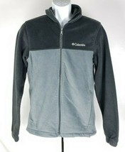 Columbia Sportswear Fleece Jacket Mens S Gray - $34.64