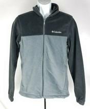 Columbia Sportswear Fleece Jacket Mens S Gray - $34.64
