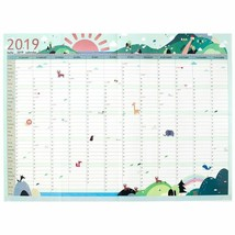 Aikeen® Very Large New 365days Daily Planner Paper Wall Calendar Study S... - $4.14