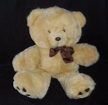 "15"" VINTAGE 1990 COMMONWEALTH BROWN TAN BABY TEDDY BEAR STUFFED ANIMAL P... - $32.73"