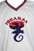 Custom Name # San Antonio Iguanas Retro Hockey Jersey New White Any Size image 2