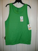 Fruit of The Loom  Men's Platinum Tank Top Size Small (34-36)  Green W I... - $11.87