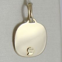 Pendant Yellow Gold Medal 375 9k, Face Christ, Square, Made in Italy image 3