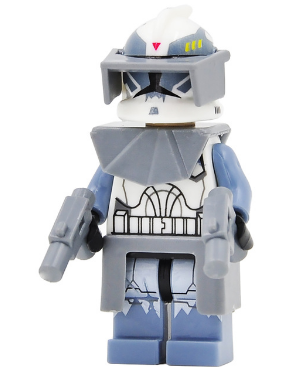 Star Wars Clone Commander Wolf Model Toys Lego Minifigure Building Block 1 PC A, used for sale  USA