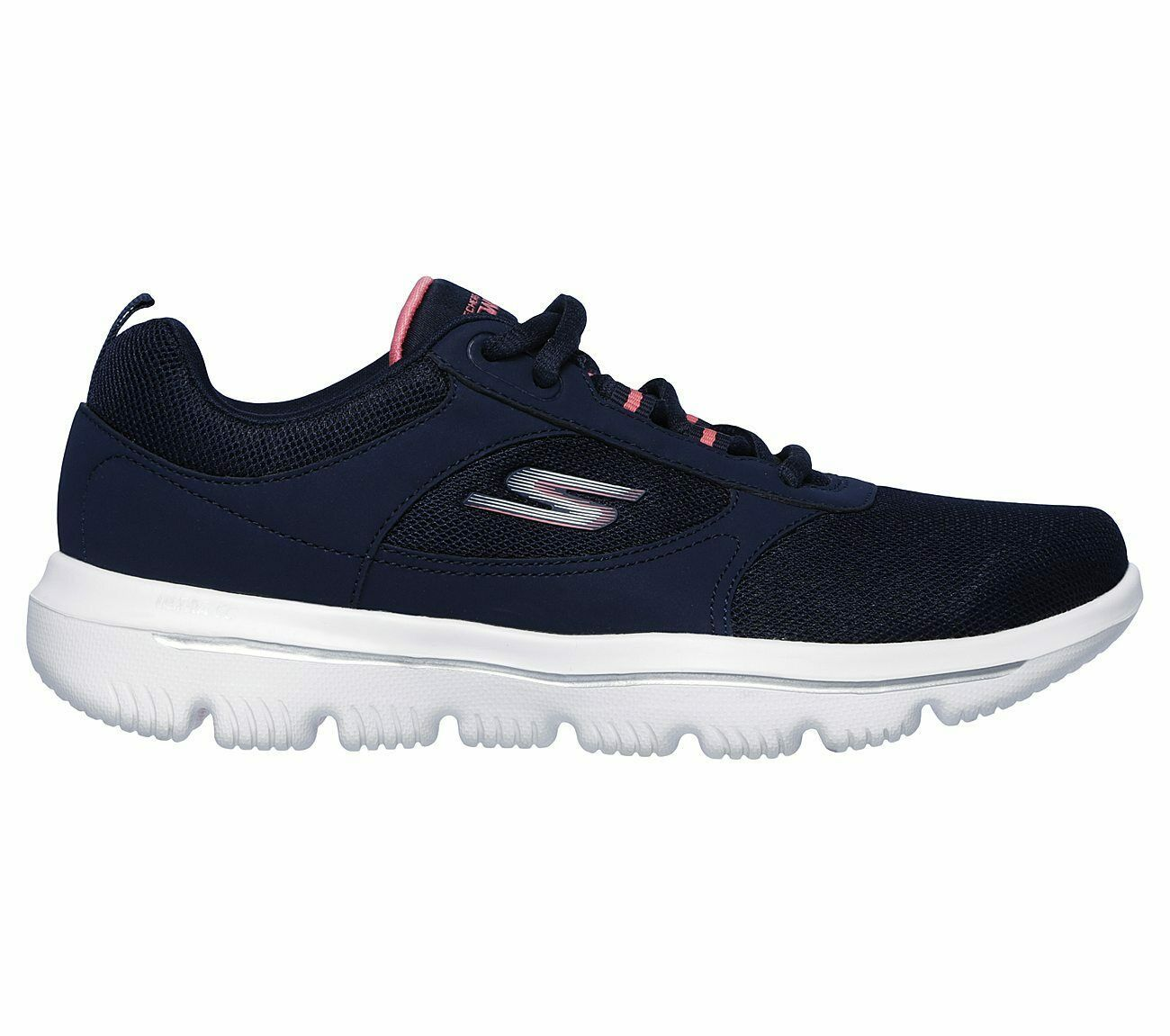 Skechers Navy Coral shoes Women Go Walk Comfort Mesh Casual Sporty Lace Up 15734 image 2