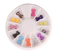 3 Packs Beautiful Nail Art DIY Decoration Random Color,Style 15