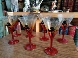 *RARE* Mickey Mouse Poolside Plastic Martini Champagne Glass Set~ 7pc. - $54.99