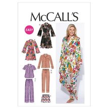 McCall's Patterns M6659 Misses' Robe/Belt/Tops/Shorts and Pants Sewing Template, - $14.21