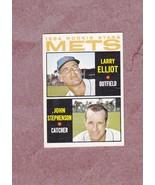 1964 Topps high # 536 Larry Elliot John Stephenson New York Mets Rookie ... - $3.49