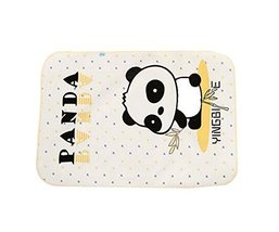 Cartoon Panda Pattern Baby Infant Urine Mat Cover Bed Diaper Changing Pad,YELLOW