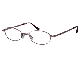 EBE Reading Glasses Womens Oval Pink Stainless Steel Folding Anti Glare - $33.29+