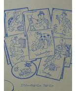 Vintage Aunt Martha's Hot Iron Transfers Pattern Murtle Turtle #3766 - $5.99