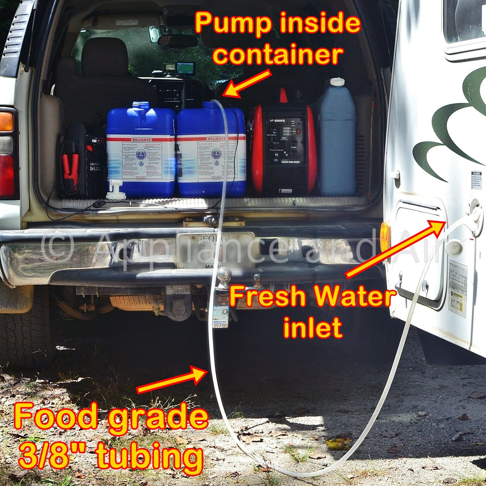 Stainless Steel RV Camper Submersible Pump, get fresh water from mountain Creek!