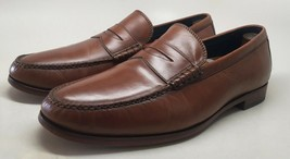 Cole Haan Men's Genuine Handsewn Tan Penny Leather Loafers Size 12 Medium - $58.41