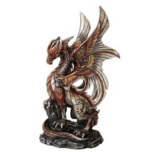 PTC 10 Inch Steampunk Inspired Mechanical Dragon Statue Figurine - $43.00