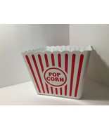 Red & White Striped Classic Popcorn Container Movie Night Novelty Item Plastic - $3.67