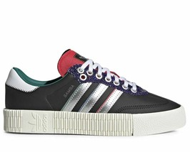 ADIDAS SAMBAROSE W BLACK/SILVER/OFF-WHITE TRAINERS SNEAKERS WOMEN SHOES ... - $91.47