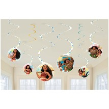 Amscan Disney Moana Hanging Swirl Birthday Party Decoration Supplies 6ct... - $5.99
