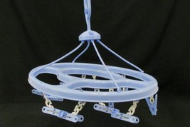 Clothespins Clothes Outdoor Hanger Round Hang Dry Laundry Rack Blue 12 - £8.07 GBP
