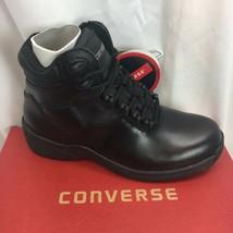 "CONVERSE HI-TOP C124 6"" Black Pin Toe Chukka Athletic Black Leather Work Shoes - $99.00"