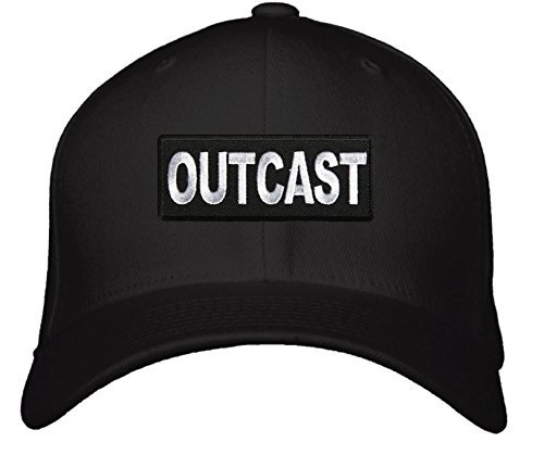 Outcast Hat - Adjustable Mens Black/White