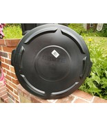 Box of 6 BRUTE® Round Flat Trash Can Lid Top 32 gallon Black Rubbermaid ... - $15.83