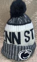 MENS/WOMENS New Era Penn State Lions B EAN Ie Pom Knit Hat NAVY/GRAY/WHITE - $14.81