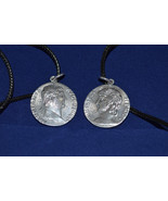 Antinous Antinoos and Emperor Hadrian Sterling Silver Medallions artifact - $129.90