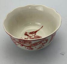 """222 Fifth Red/White Christmas Lane 5 7/8"""" Soup/Cereal Bowl  Replacement - $9.89"""
