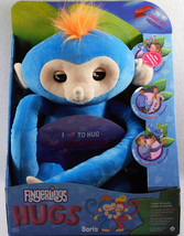 Fingerlings HUGS baris blue Monkey Plush Interactive toy 40 sounds New W... - $46.75