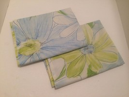 Cannon Floral Pillowcase Set Blue Green 2 by Cannon Royal Family Standard - $14.85