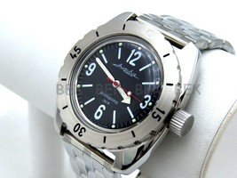 Vostok Amphibian. Russian Military Man Auto Watch. Diver 200 M. Amphibia 150660 - $53.88