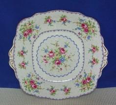 PETIT POINT Royal Albert TAB HANDLED CAKE PLATE (s) Bone China, England EUC - $18.13