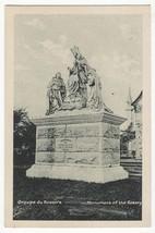 Quebec Canada QC, Groupe du Rosaire, Rosary Monument vintage postcard - $3.50