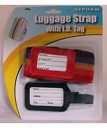Cinghia Regolabile Sicurezza Bagaglio Bagagli Viaggio Id Tag - $20.43