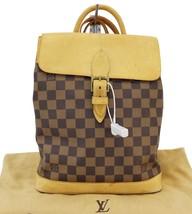 Authentic LOUIS VUITTON Damier Ebene Soho Backpack Bag TT1509 - $886.05