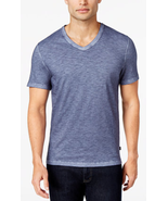 Micheal Kors Men's V-Neck Melange Cotton T-Shirt, Midnight, Size XXL, MS... - $34.64